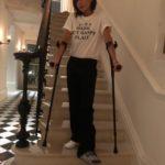 Виктория Бекхэм сломала ногу