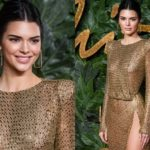 Кендалл Дженнер в откровенном наряде на British Fashion Awards