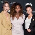Джиджи, Белла Хадид и Алексис Оганян поддержали Серену Уильямс на премьере сериала о ней
